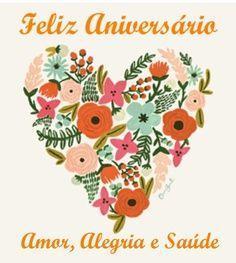 Feliz aniversário com muito amor