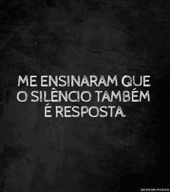 O silêncio também é resposta
