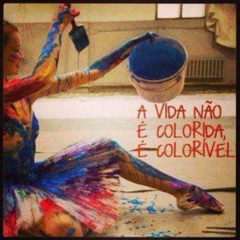 A vida não é colorida