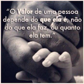 O valor de uma pessoa