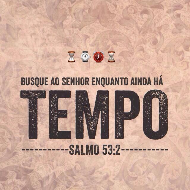 Busque Ao Senhor Enquanto Ainda Há Tempo. (Salmo 53:2