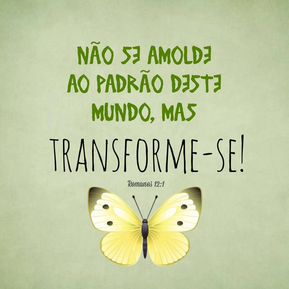 Não Se Emolde Ao Padrão Deste Mundo, Mas Transforme-se