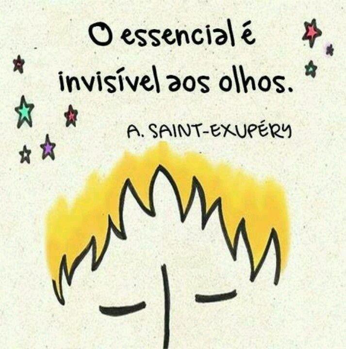 O essencial é invisível aos olhos. (A. Saint-Exupéry)