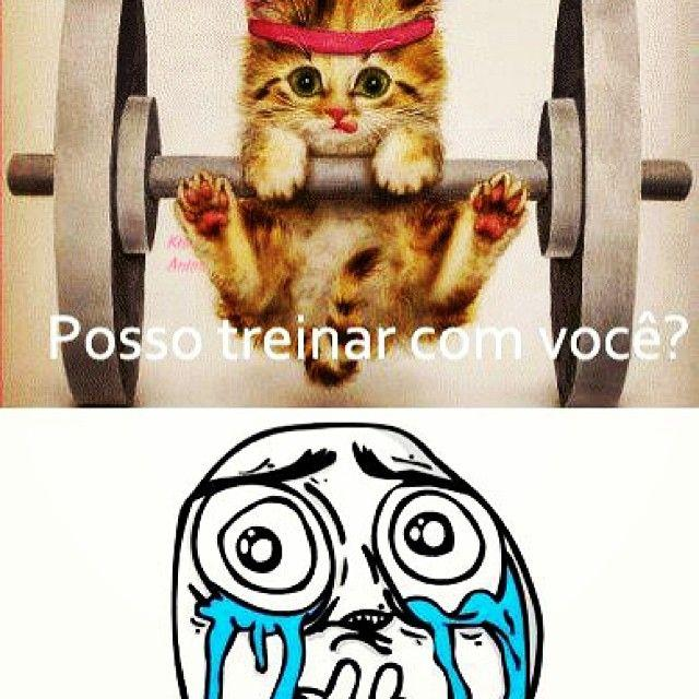 Posso treinar com você?