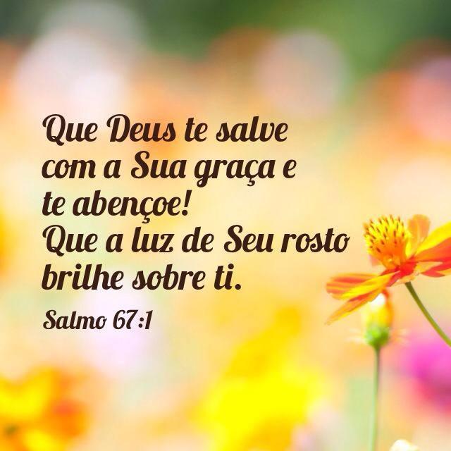 Mensagem de Deus com salmo