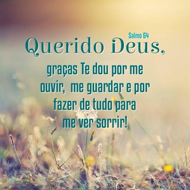 Querido Deus Graças Te Dou Por Me Ouvir Me Guardar E Por