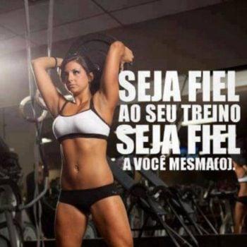Seja fiel ao seu treino