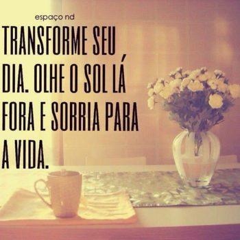 Transforme o seu dia