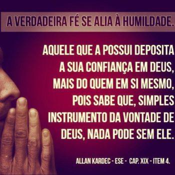 A verdadeira fé se alia à humildade