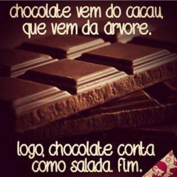 Chocolate vem do cacau