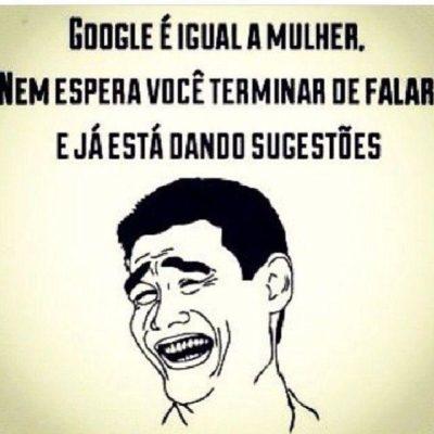 Google é igual a mulher