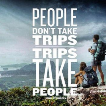 People don't take trips