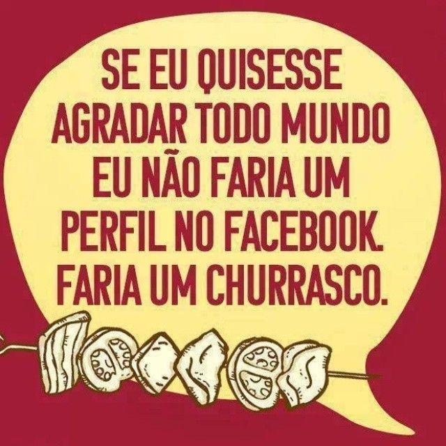 Facebook ou churrasco