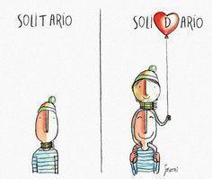 Solitário x Solidário
