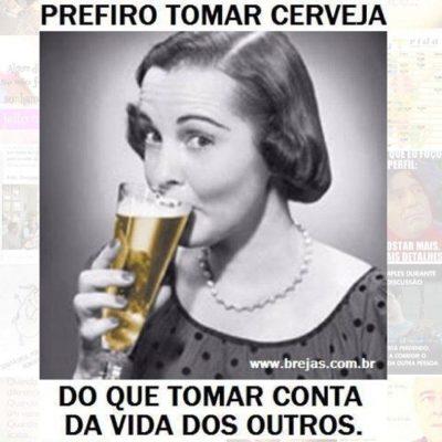 Prefiro tomar cerveja
