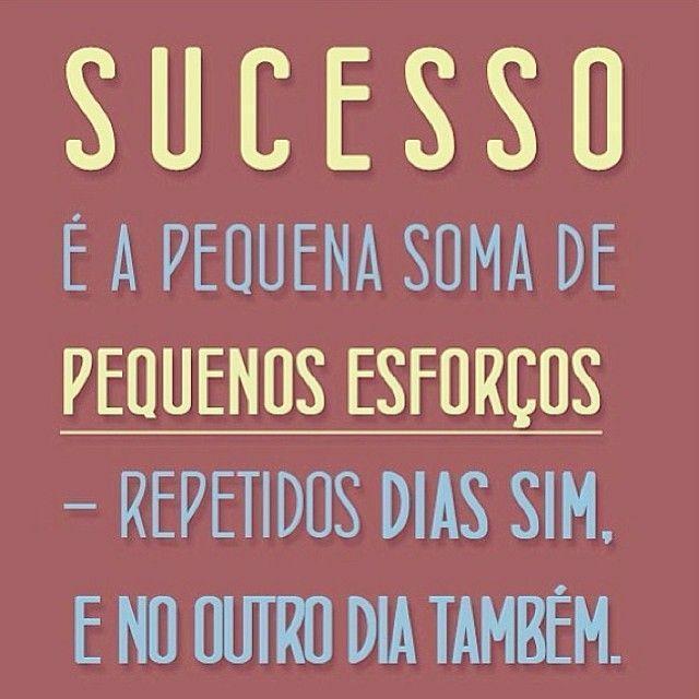 Sucesso é A Pequena Soma De Pequenos Esforços Repetidos