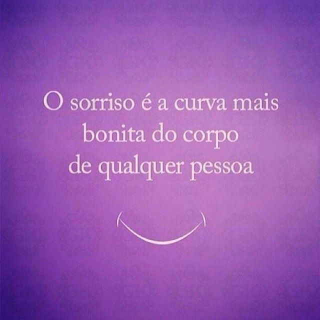 frases bonitas com sorriso - o sorriso é a curva