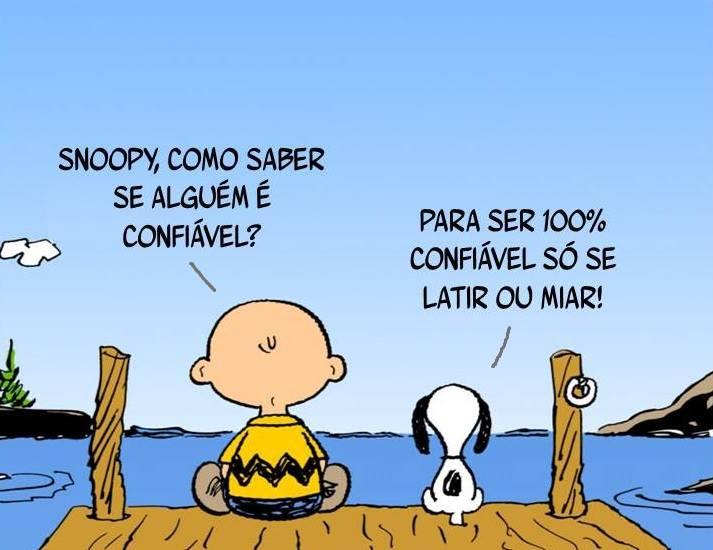 Snoopy, Como Saber Se Alguém é Confiável? Para Ser 100