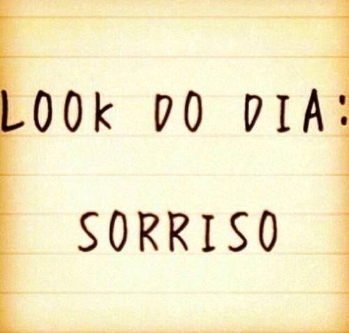 Look Do Dia Sorriso