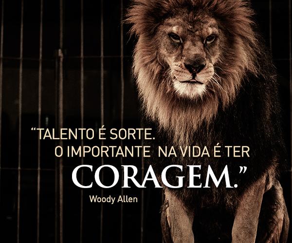 Talento é sorte. ...