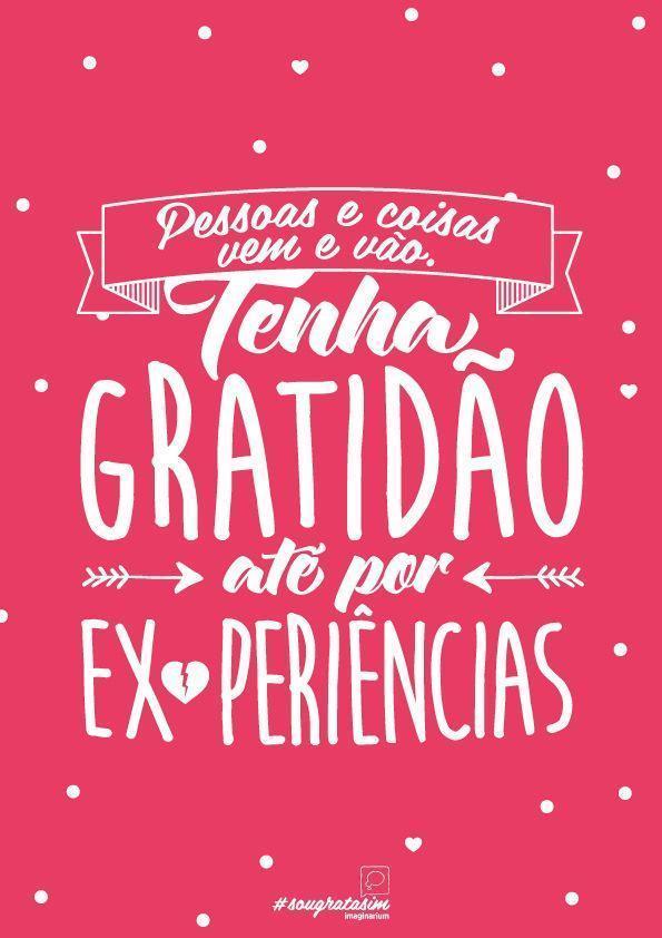 Agradeça as experiências