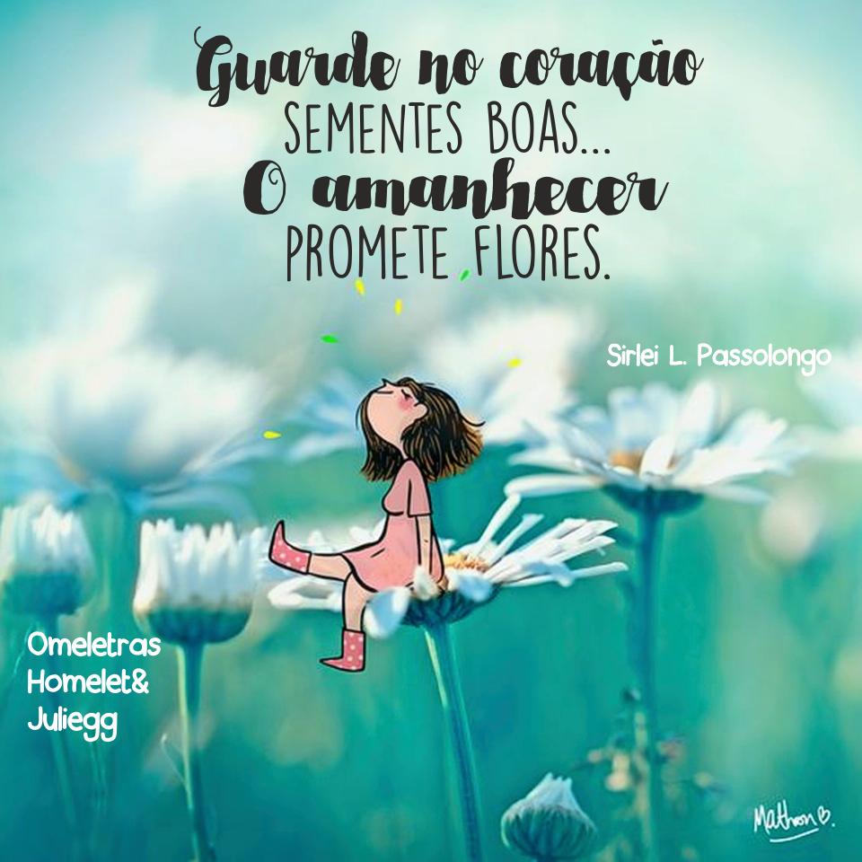 Guardo No Coração Sementes Boas O Amanhecer Promete Flores