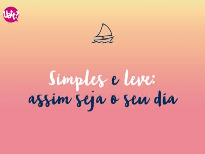 Simples e leve