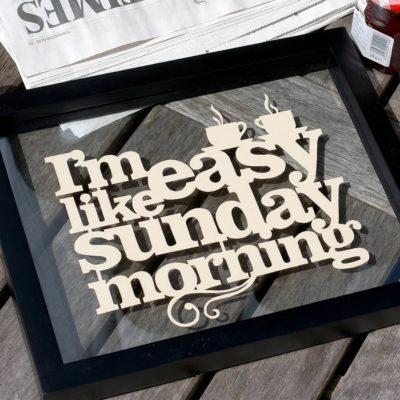 Manhã de domingo