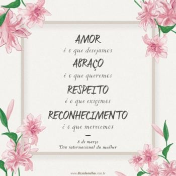 Amor é o que desejamos