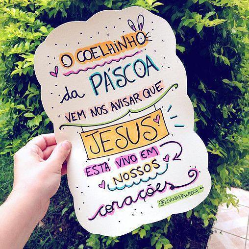 O Coelhinho Da Páscoa Vem Nos Avisar Que Jesus Está Vivo