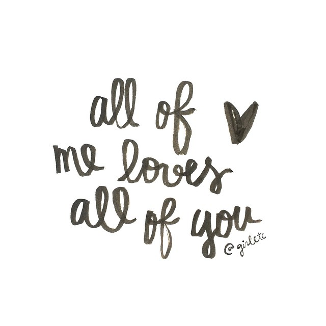 All of me loves
