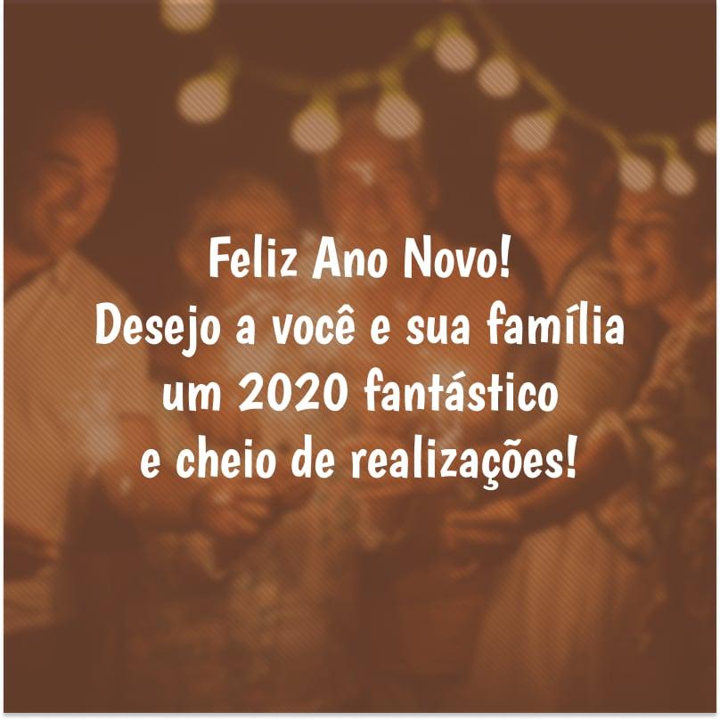 Feliz Ano Novo Desejo A Você E Sua Família Um 2020