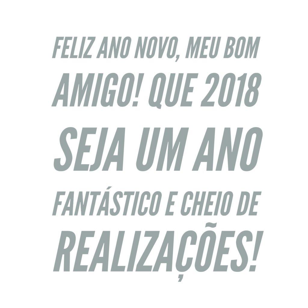 Feliz Ano Novo, meu bom amigo!