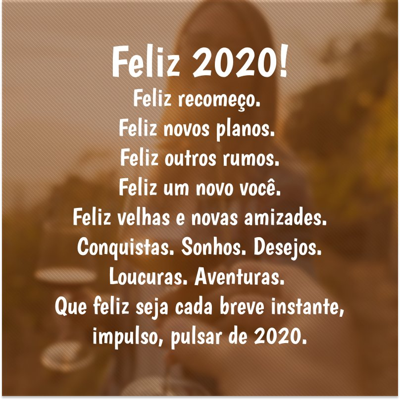 Bom dia feliz 2020