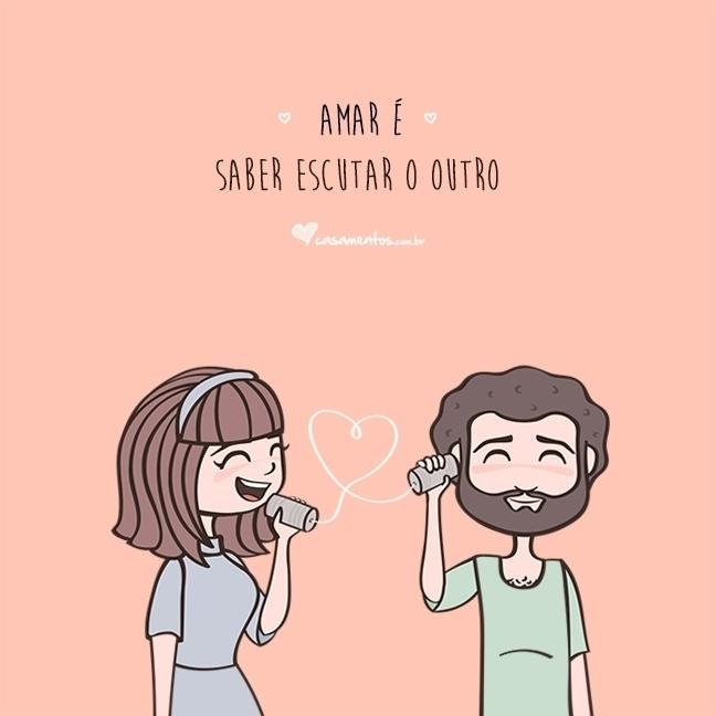Amar é saber escutar o outro