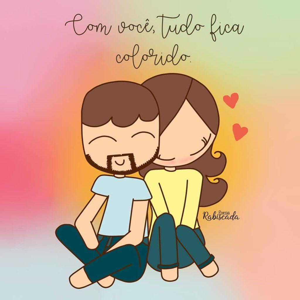 Com você, tudo fica colorido