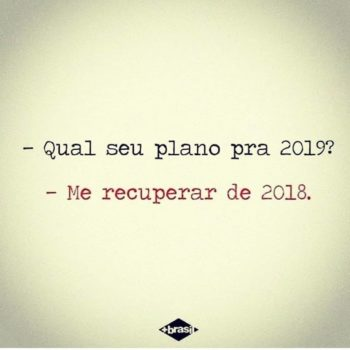 Plano para 2019