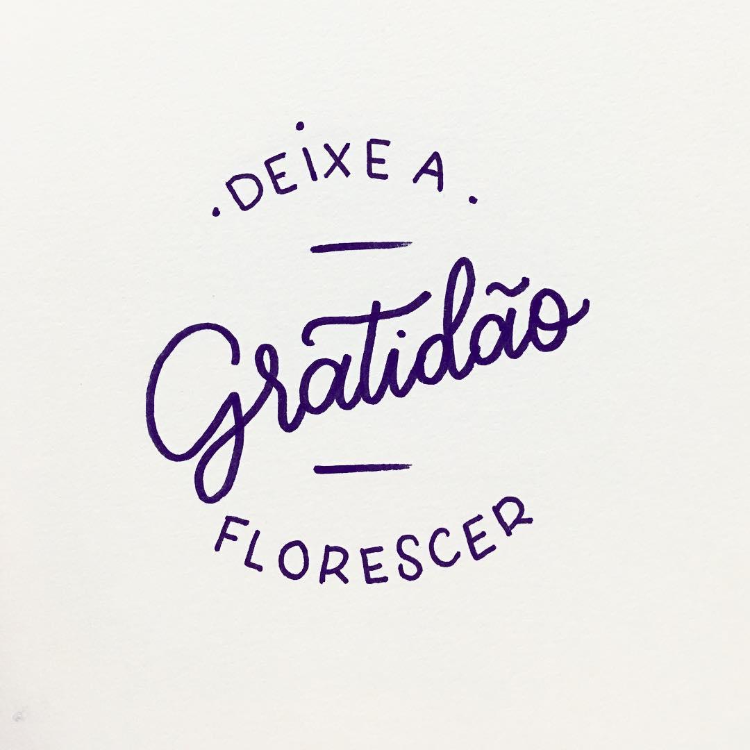 Deixe a gratidão florescer.