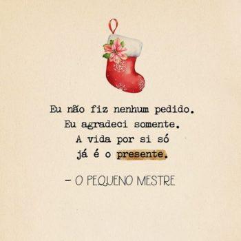A vida é o presente