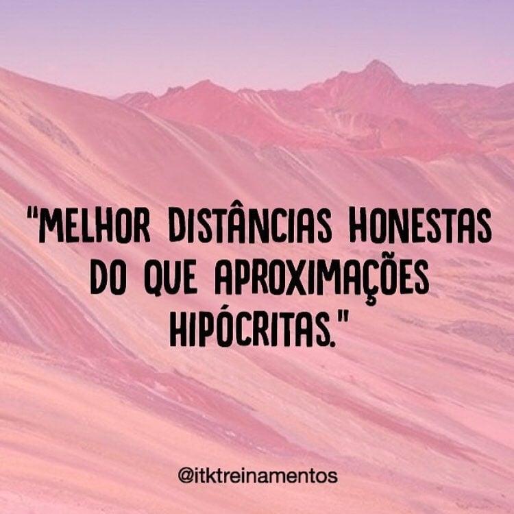 Melhor distâncias honestas do que aproximações hipócritas.