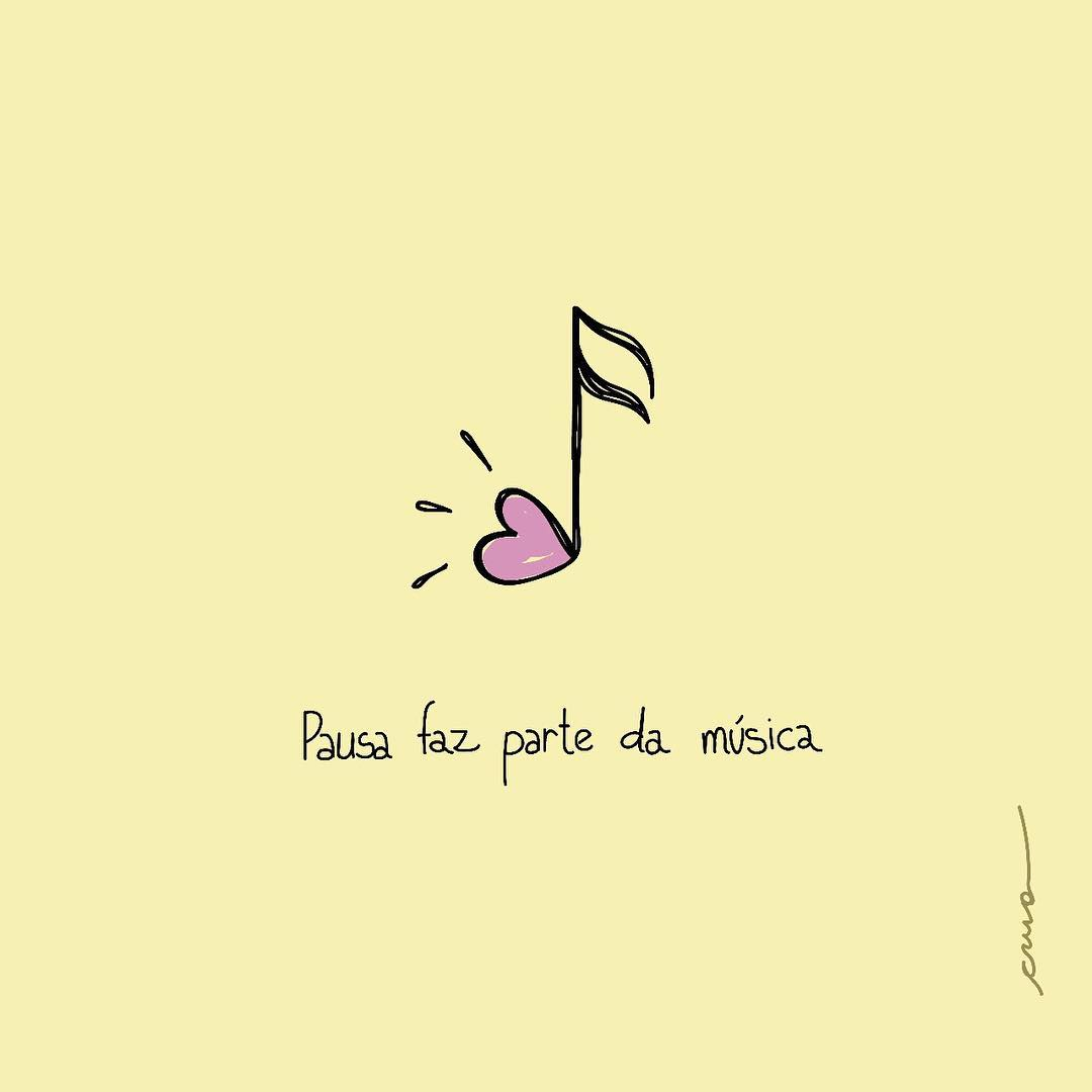 Pausa faz parte da música.