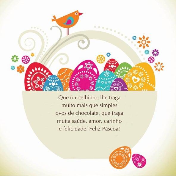 Que o coelhinho lhe traga muito mais que simples ovos de chocolate, que traga muita saúde, amor, carinho e felicidade. Feliz Páscoa!