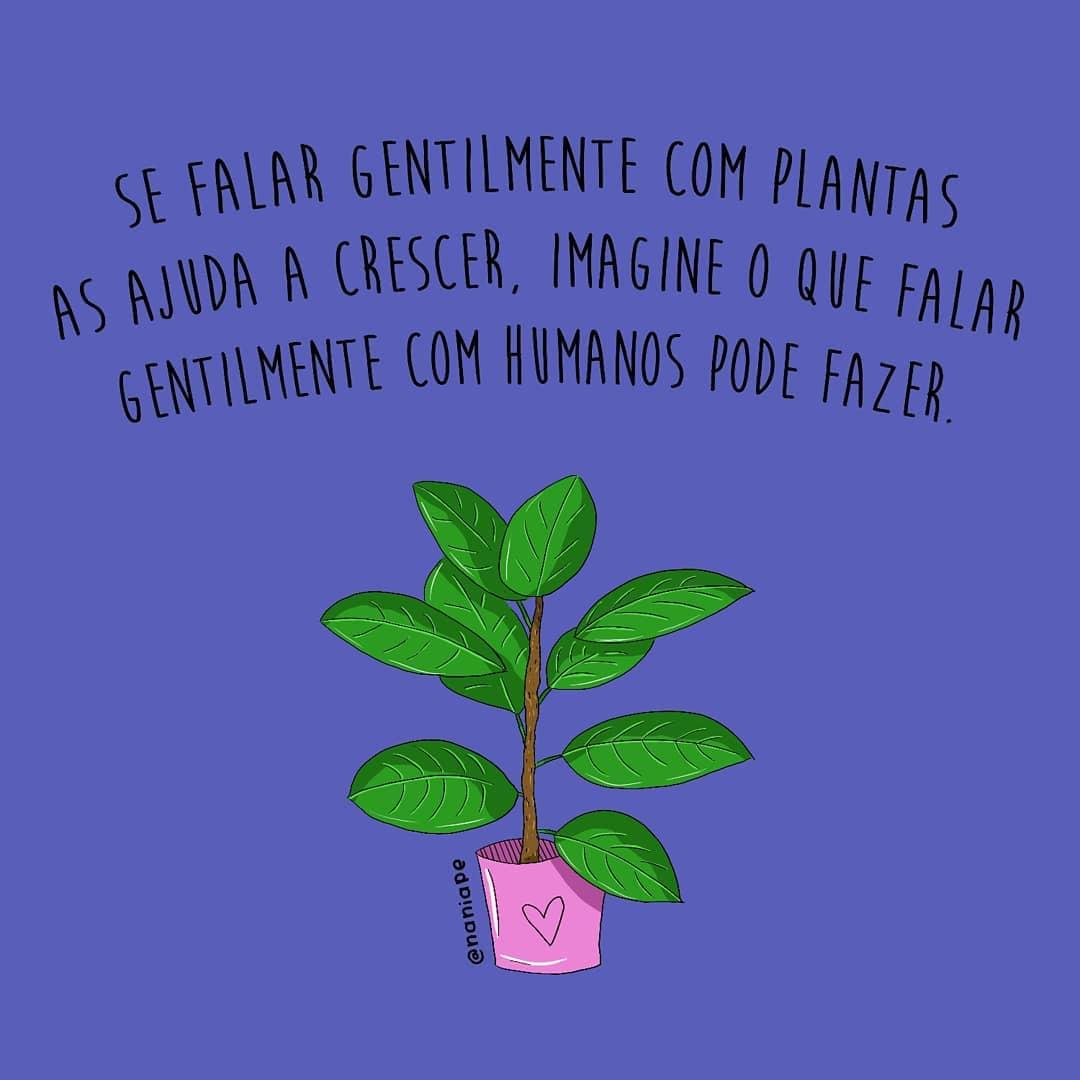 Se falar gentilmente com plantas as ajuda a crescer, imagine o que falar gentilmente com humanos pode fazer.