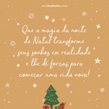 A magia da noite de Natal