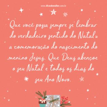 Verdadeiro sentido do Natal
