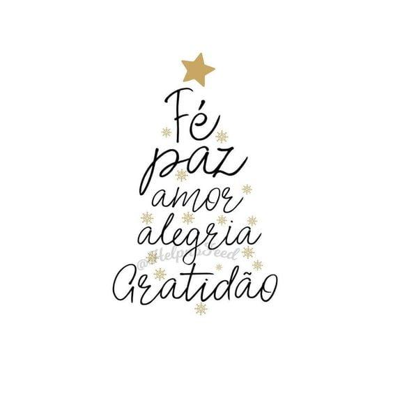 Fé, paz, amor, alegria e gratidão