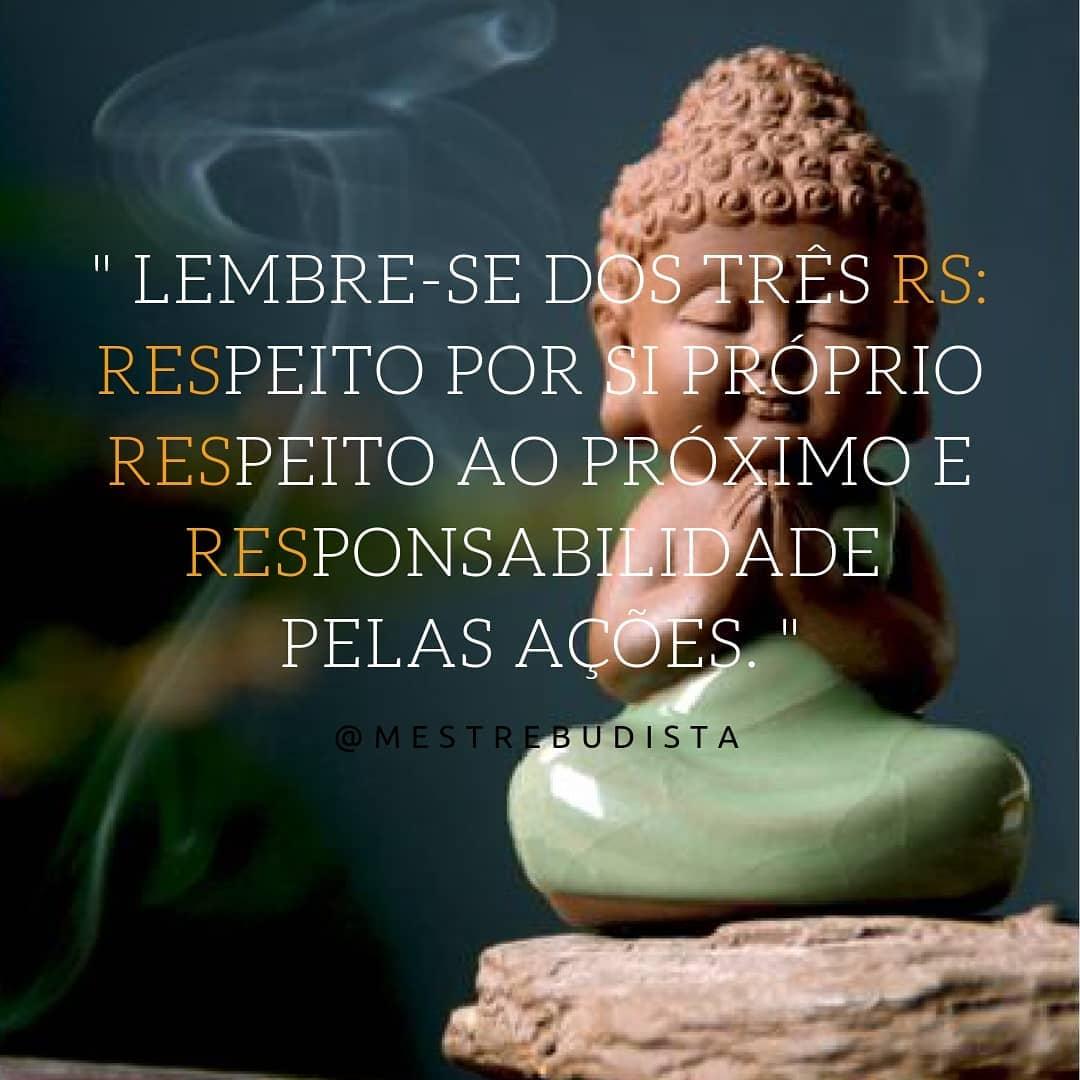 Lembre-se dos três Rs: respeito por si próprio, respeito ao próximo e responsabilidade pelas ações.