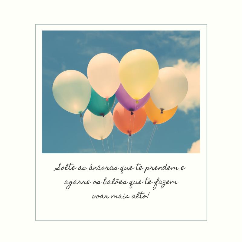 Solte as âncoras que te prendem e agarre os balões que te fazem voar mais alto!