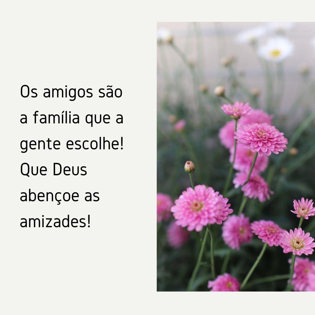 Os amigos são a família que a gente escolhe! Que Deus abençoe as amizades!