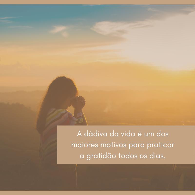 A dádiva da vida é um dos maiores motivos para praticar a gratidão todos os dias.